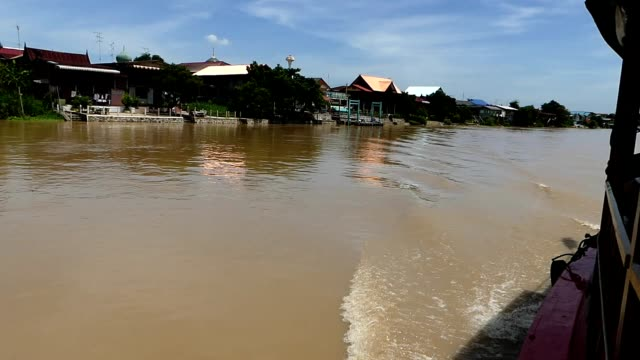 scene along the river in ayuthaya, thailand - ayuthaya province stock videos and b-roll footage