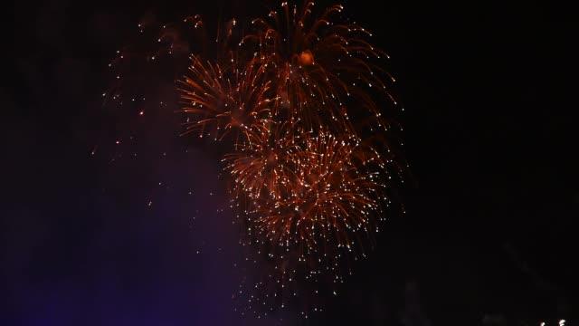 scene from edinburgh scotland slow motion new years eve fireworks - edinburgh stock videos and b-roll footage