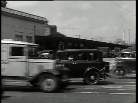 1933 ms scene from film convention city of cars driving down street / atlantic city, new jersey, united states - 1933 stock videos & royalty-free footage
