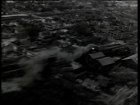 1933 aerial scene from film convention city tracking a moving train / atlantic city, new jersey, united states - 1933 stock videos & royalty-free footage