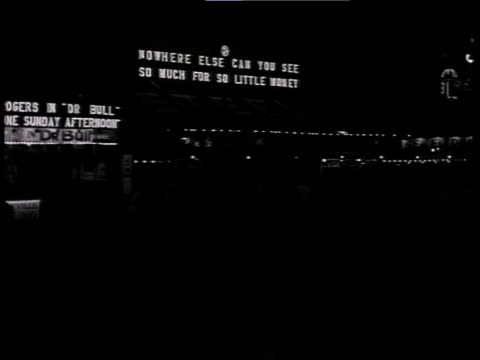 1933 pan scene from the film convention city with atlantic city pier at night with shadows of people walking by and billboards lit up / atlantic city, new jersey, united states - 1933 stock videos & royalty-free footage