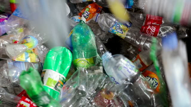scene from the recycling center - bottle stock videos & royalty-free footage