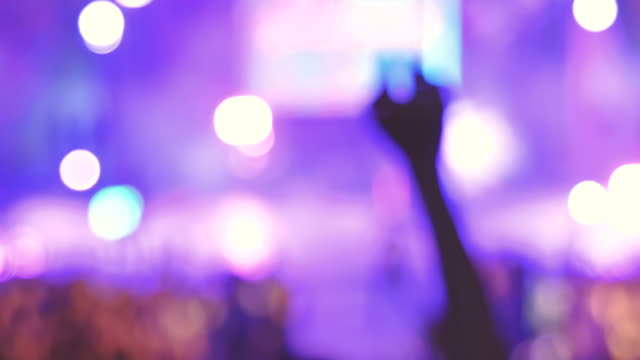 scene of concert crowd partying is fun and happy - behind stock videos & royalty-free footage