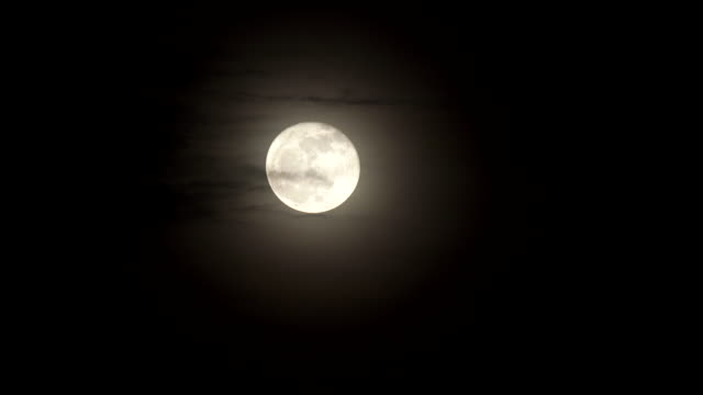 scene of full moon with cloud at night sky - full moon stock videos & royalty-free footage