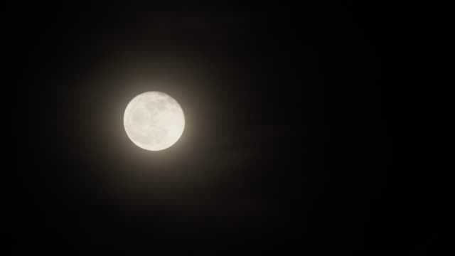 scene of full moon with cloud at night sky - romantic sky stock videos & royalty-free footage