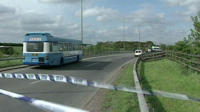 scene of road rage murder of stephen cameron by kenneth noye on m24 slip road in kent 1996 - kenneth noye stock videos & royalty-free footage
