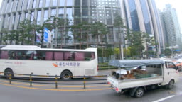 Scene of view seoul city from the bus, Concept of travel, Transportation in Seoul