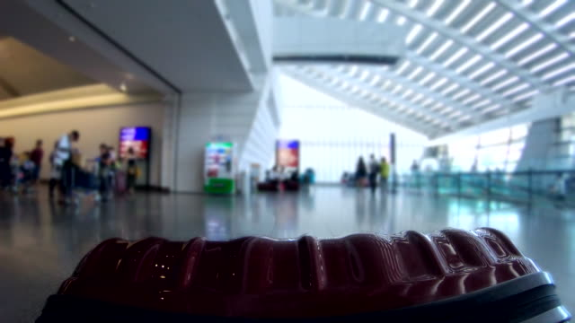 scene pov time lapse of tourist dragging luggage in the airport terminal, concept of transportation and travel, holiday trip - airport terminal stock videos & royalty-free footage