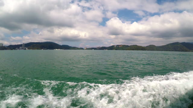 scene view of sun moon lake from tour-boat at nantou, taiwan - sun moon lake stock videos and b-roll footage