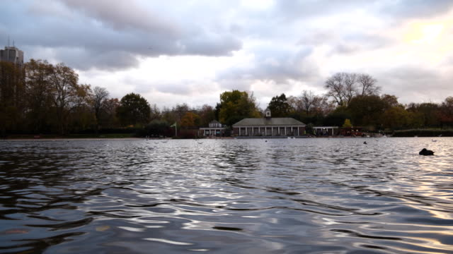 scenery from hyde park during sunset - stately home stock videos & royalty-free footage