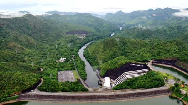 scenery of dam in tropical rainforest in national park - hydroelectric power stock videos & royalty-free footage