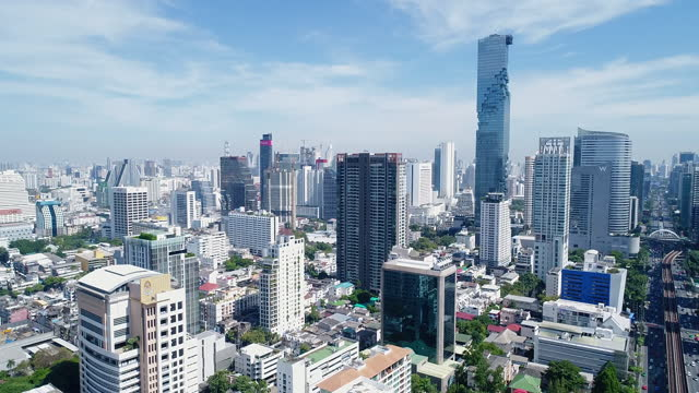 scenery of downtown district / bangkok, thailand - bangkok stock videos & royalty-free footage
