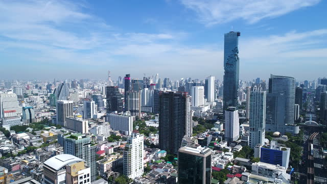 scenery of downtown district / bangkok, thailand - thailand stock videos & royalty-free footage