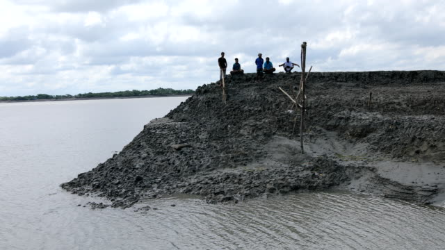 scenery of embankment that damaged by the high tidal surge in the coastal area of bangladesh on september 04, 2020. bangladesh is one of the... - embankment stock videos & royalty-free footage