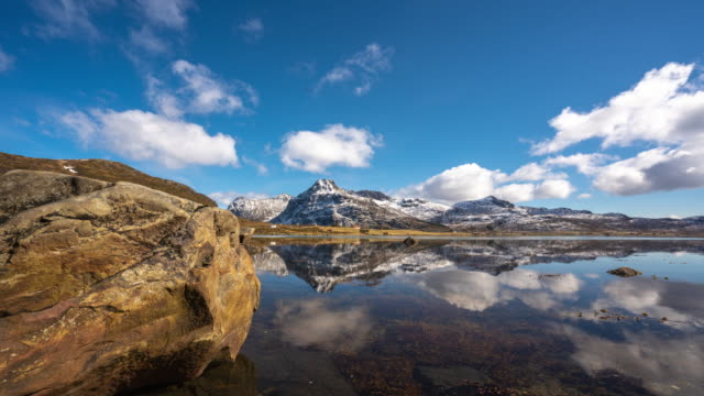 scenery of lake in lofoten islands, norway - freshness stock videos & royalty-free footage