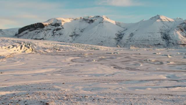 scenery of skaftafell glacier, iceland - ice sheet stock videos & royalty-free footage