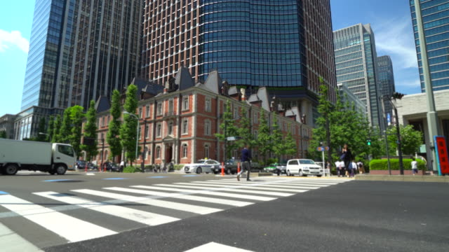 scenery of the business district in marunouchi,tokyo - marunouchi stock videos & royalty-free footage