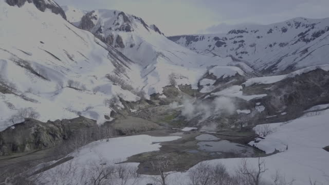scenery of valley of geysers, kamchatka, russia - hot spring stock videos & royalty-free footage