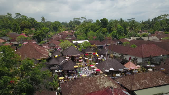 scenery of village festival / bali, indonesia - tourism stock videos & royalty-free footage