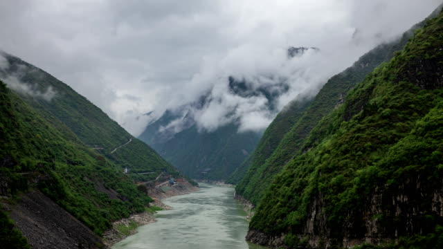 scenery of yangtze river with clouds / chongqing, china - grainy stock videos & royalty-free footage