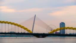 Scenery view of dragon bridge in Danang ,Vietnam
