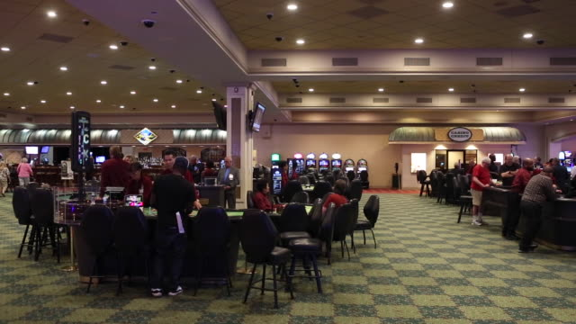 scenes around gambling floor and sports book area after the launch of fullscale sports betting at dover downs casino in dover delaware us on tuesday... - casino floor stock videos & royalty-free footage