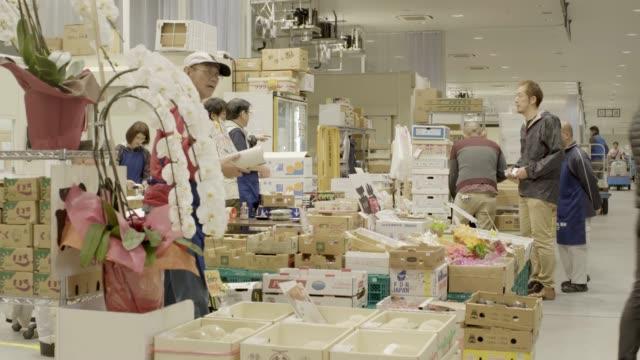 Scenes at new Toyosu vegetable market, Japan