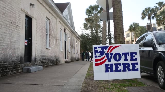 scenes from a polling place in the south carolina republican presidential primary election in charleston south carolina us on saturday feb 20 2016... - wahllokal stock-videos und b-roll-filmmaterial