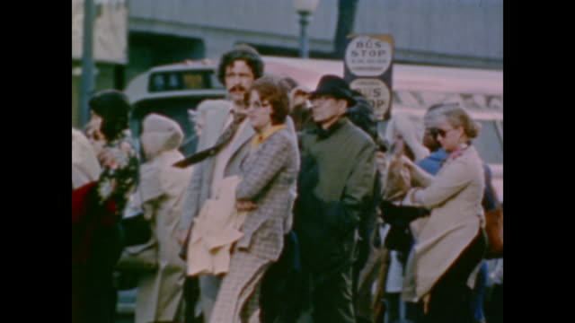 vídeos de stock e filmes b-roll de scenes from america as it searches for new energy supplies - 1974