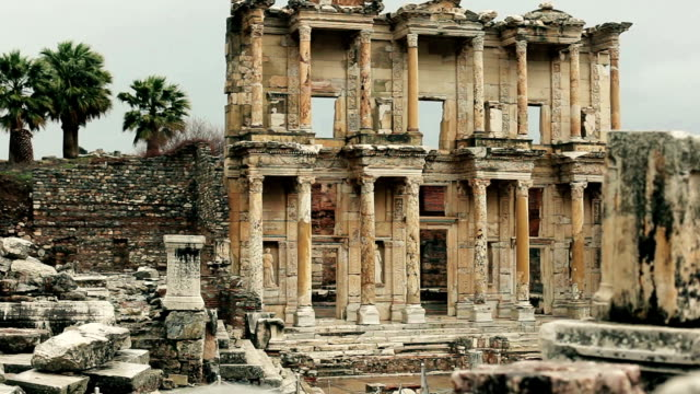 Szenen aus historische Altstadt von Ephesus