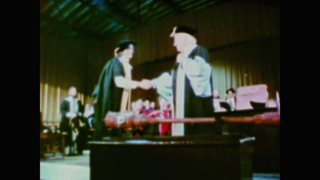 scenes from astronaut kathryn sullivan's college graduation and her approach to learning and research - 1981 stock videos & royalty-free footage