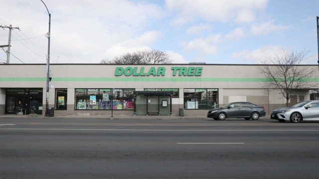 scenes from dollar tree and family dollar stores outdoors and indoors, formerly known as only $1.00. it is an american chain of discount variety... - chain store stock videos & royalty-free footage