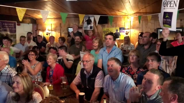 scenes from esker hills golf club in co offaly shane lowry's home club as he claimed the open championship a year after being reduced to tears by the... - lee majors stock videos and b-roll footage