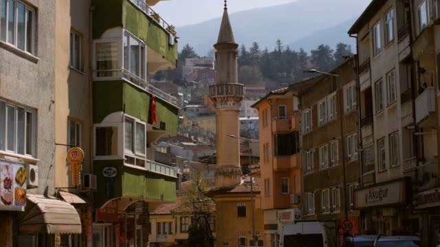 scenes from everyday street life in turkey, bursa. incidental people at the historical downtown district yeşil mahallesi - ottoman stock videos and b-roll footage