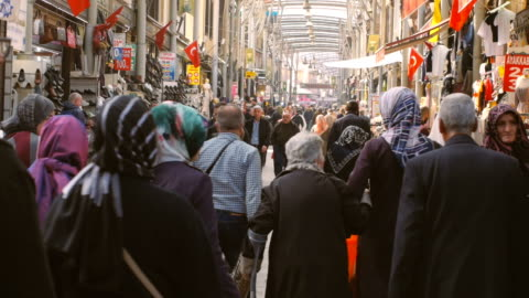scenes from everyday street life in turkey. incidental people at the shopping district - turkish ethnicity stock videos & royalty-free footage