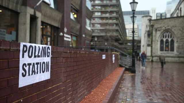 scenes from exteriors of polling station during uk general election london england uk on thursday december 12 2019 - registration stock videos & royalty-free footage