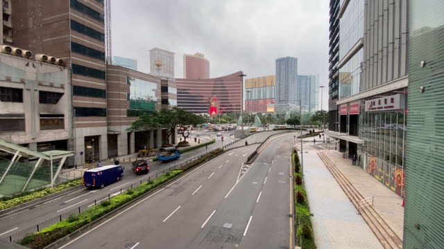 scenes from exteriors of world's biggest gambling hub shut because of coronavirus epidemic macau china on wednesday february 5 2020 - macao stock videos & royalty-free footage