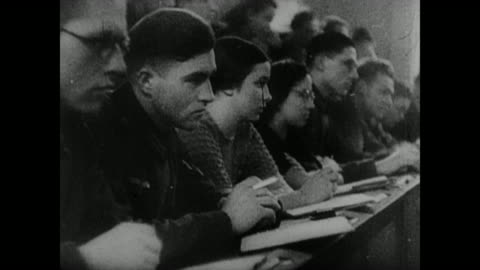 scenes from inside the geopolitics institute at the university of munich, headed by karl haushofer, allegedly showing all the information the germans... - world war ii stock videos & royalty-free footage