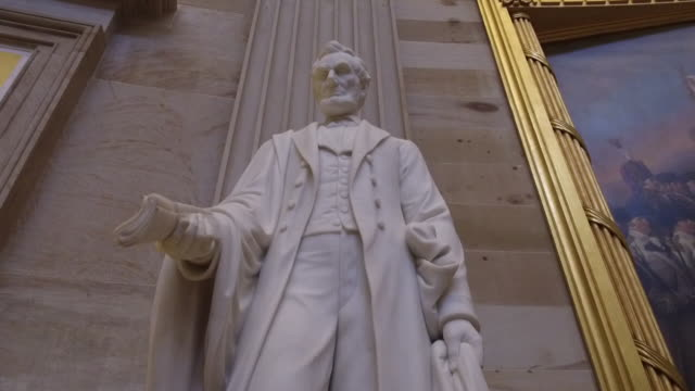 scenes from interior of the us capitol rotunda in washington dc us on monday december 16 2019 - abraham lincoln stock videos & royalty-free footage