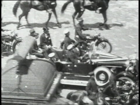 scenes from lindberg victory parade where the mayor presents him with medal of valor and he is joined by his mother / new york new york united states - 1927 stock videos and b-roll footage