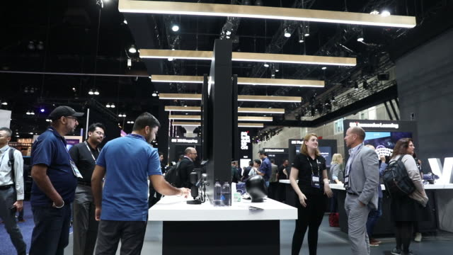 scenes from mobile world congress americas event los angeles california usa on tuesday october 22 2019 - innovation stock videos & royalty-free footage
