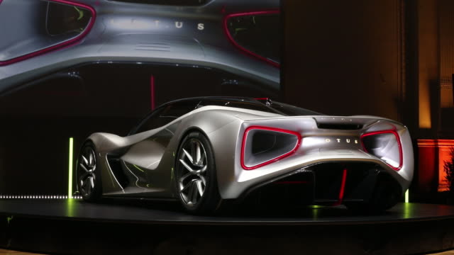 scenes from premiere of new lotus evija electric hypercar london england uk on tuesday july 16 2019 - silver coloured stock videos & royalty-free footage