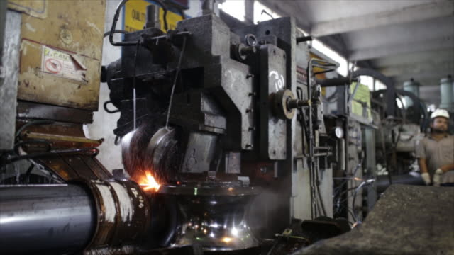 scenes from steel authority of india limited factory, rourkela, odisha, india, on friday, june 21, 2019. - 鉄点の映像素材/bロール