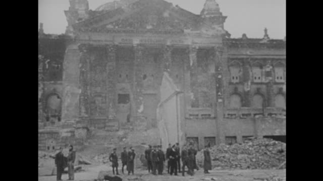 scenes of a heavily bombed berlin - 1945 stock videos & royalty-free footage