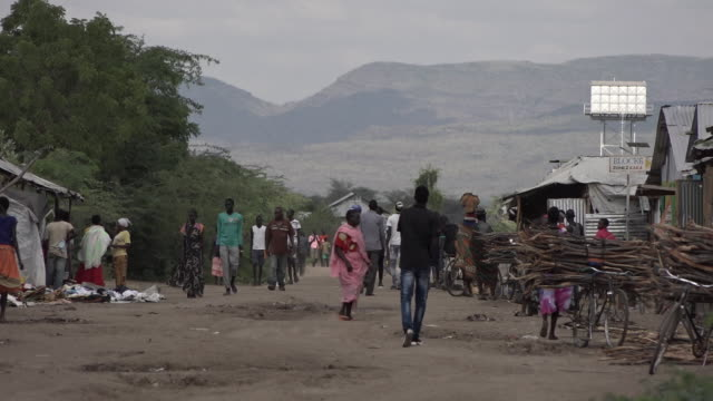 scenes of daily life in the kakuma refugee camp in kenya the refugees originate mostly from south sudan and somalia - charity and relief work stock videos & royalty-free footage