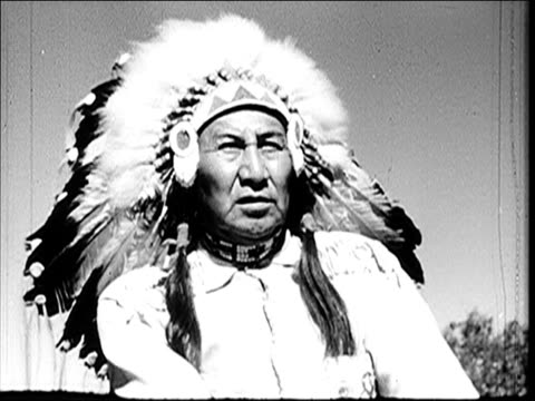 1947 - scenes of montana - north american tribal culture stock videos and b-roll footage