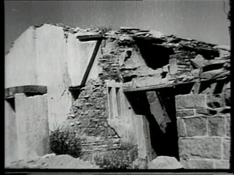 scenes of rubble and damaged buildings caused by communist forces in the formosa strait during the chinese civil war / china - communism stock videos & royalty-free footage