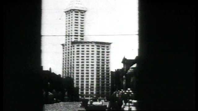 1917 - scenes of seattle - smith tower stock videos & royalty-free footage