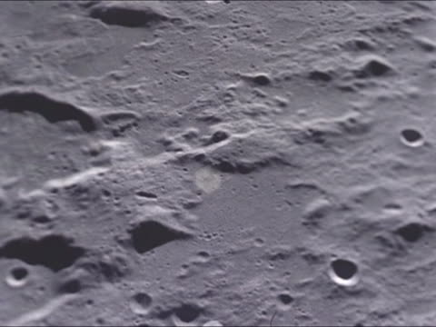 stockvideo's en b-roll-footage met scenes of the terrain in the surface of the moon apollo 11 was the first space flight landing humans in the moon neil armstrong and buzz aldrin... - missiehuis