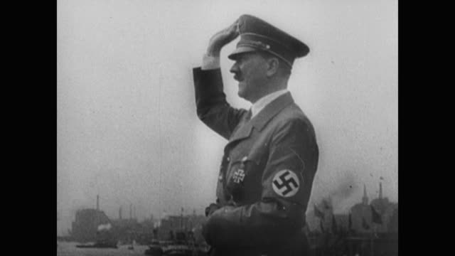 scenes of tourists and students on a boat and other nazi-like leaders around the world: joachim von ribbentrop of the nazi party, leon degrelle of... - austria video stock e b–roll